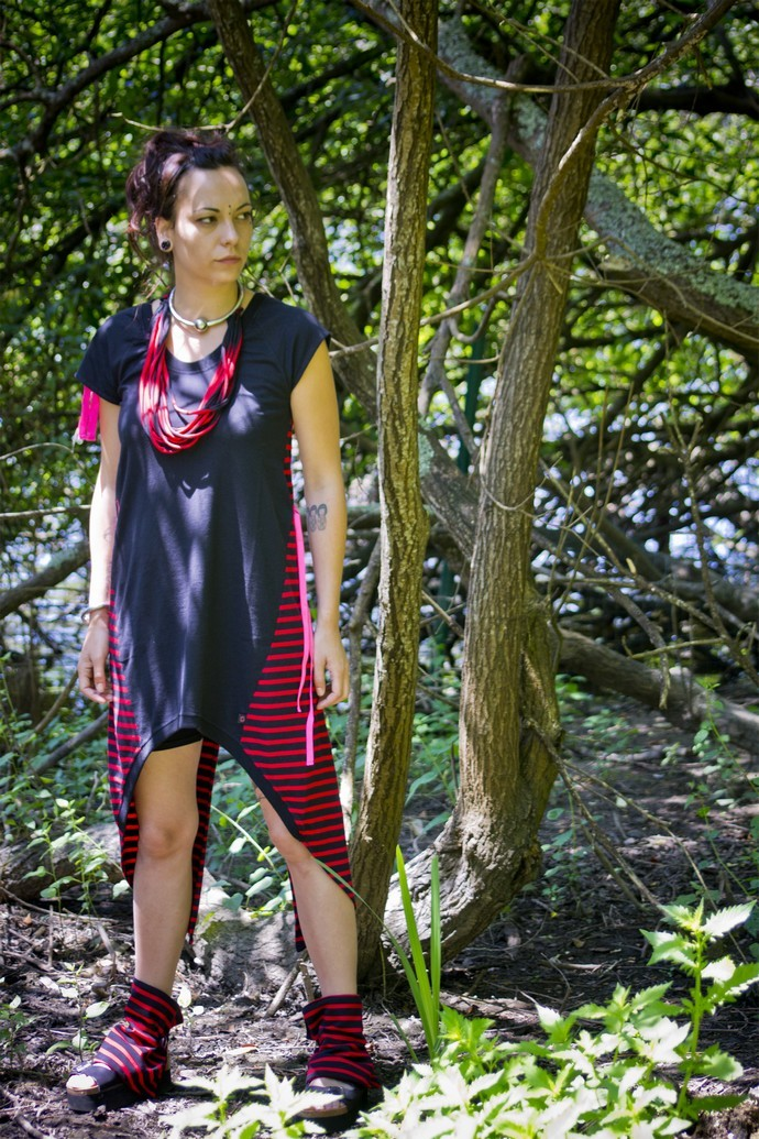 Robe Tunique OUIJA Noir & Rouge